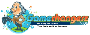 Philadelphia video game truck party logo